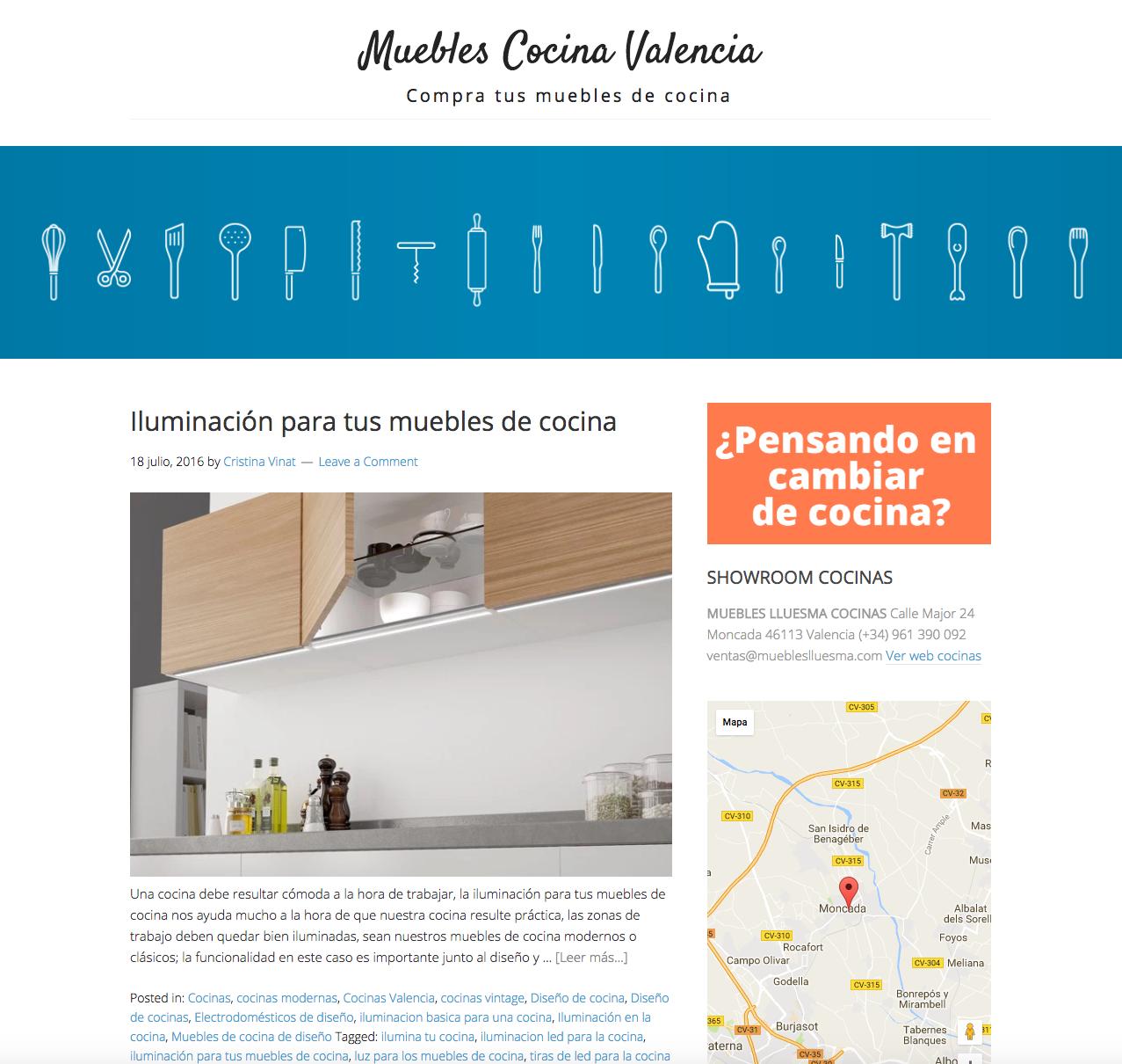 Bocetos para webs y blogs de empresas de cocina en - Muebles de cocina en valencia ...