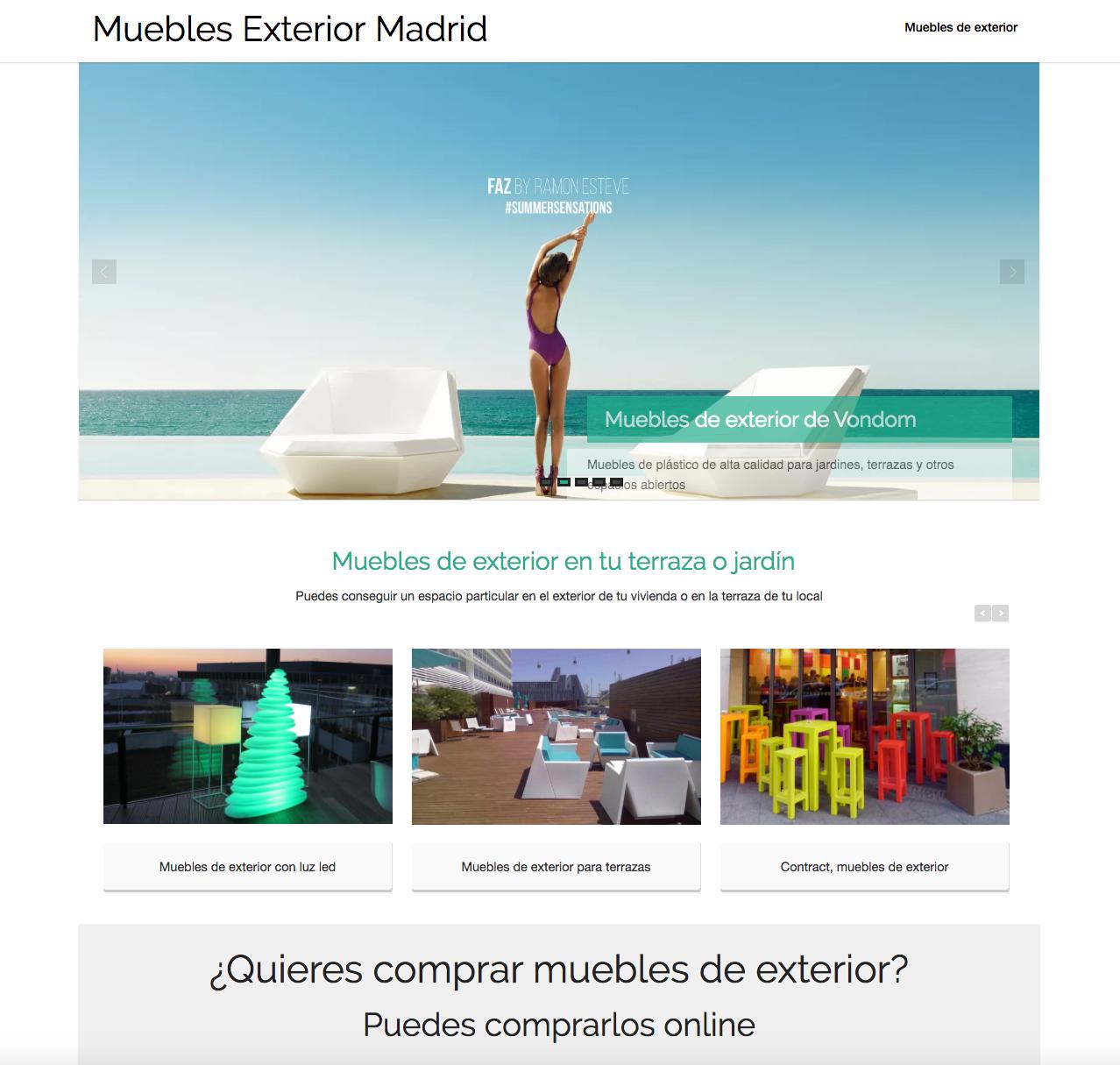 Programaci N Web Para Blog De Muebles De Exterior En Madrid  # Muebles Pagina Web